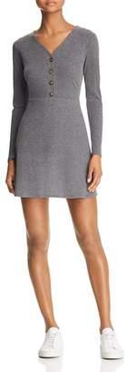 Sadie & Sage Button-Detail Knit Mini Dress