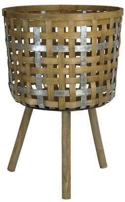 SAGEBROOK HOME Decorative Bamboo Planter Stand - Large