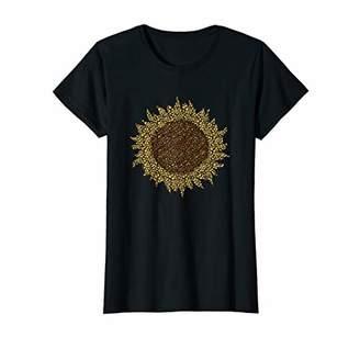 Womens Leopard Cheetah Sunflower Graphic Boho T-Shirt