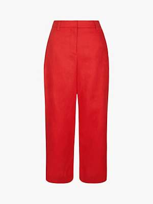 Hobbs Nicole Cropped Linen Trousers