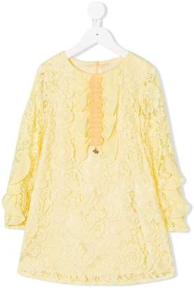 Elisabetta Franchi La Mia Bambina floral lace pattern dress