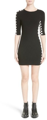 Women's Alexander Wang Intarsia Check Knit Dress $645 thestylecure.com