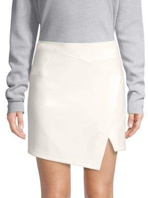 Tibi Anson Flap-Front Mini Skirt