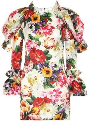 Dolce & Gabbana Floral silk minidress