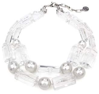 Ben-Amun Imitation Pearl & Lucite(R) Necklace