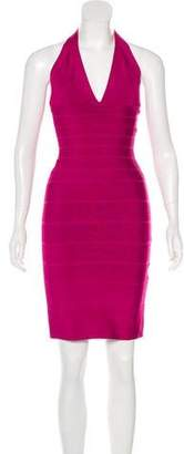 Herve Leger Bandage Halter Dress