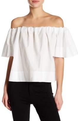 VINCE. Off-the-Shoulder Shirt $225 thestylecure.com