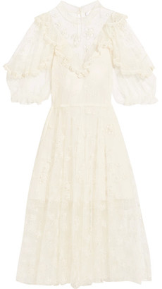 Chloé - Ruffled Embroidered Lace Gown - Ivory $3,995 thestylecure.com