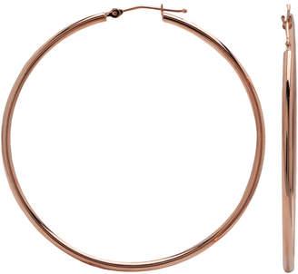 JCPenney FINE JEWELRY Narrow Hoop Earrings 14K Rose Gold