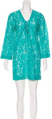 Blumarine Lace Cover Up Dress