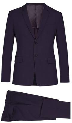 Prada Single Breasted Wool Blend Suit - Mens - Purple