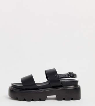 Park Lane wide fit chunky heeled sandals