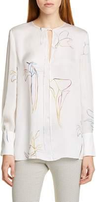 Theory Nature Silk Chiffon Tunic
