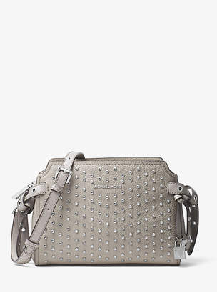 Michael Kors Bristol Studded Leather Crossbody