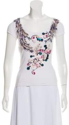 Philosophy di Alberta Ferretti Embellished Scoop Neck T-Shirt