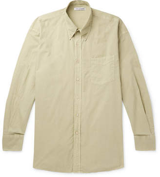 Our Legacy Borrowed Oversized Button-Down Collar Garment-Dyed Cotton Shirt