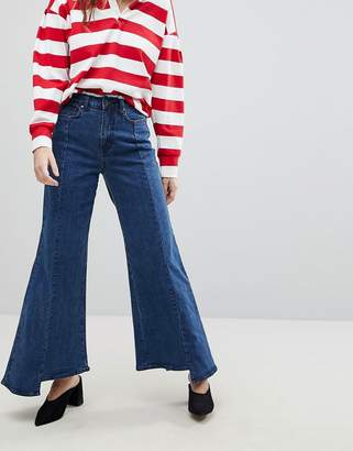Evidnt EVIDNT Uneven Hem Wide Leg Jean