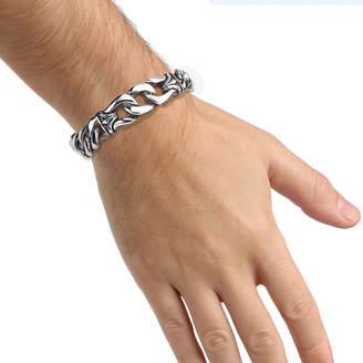 FINE JEWELRY Mens Stainless Steel Chain Link Bracelet