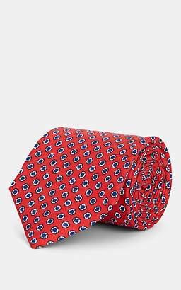 Barneys New York Men's Medallion-Print Silk Necktie - Red