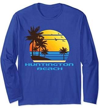 Huntington Beach Surf Long Sleeve T-Shirt Sunset Tee Shirt