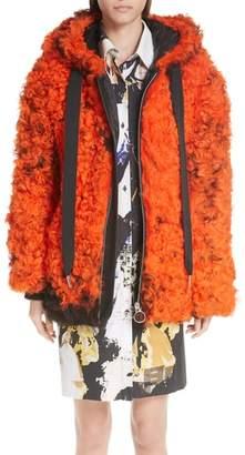 Marques Almeida Marques'Almeida Genuine Shearling Hooded Coat