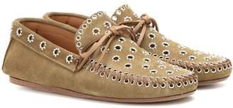 Isabel Marant Foccia embellished suede loafers