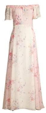 LoveShackFancy Women's Evelyn Floral Silk Maxi Dress - Size 0