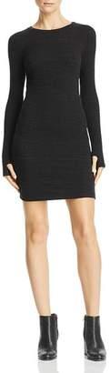 LnA Rib-Knit Sweater Dress
