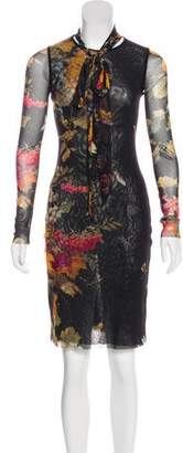 Jean Paul Gaultier Soleil Long Sleeve Knee-Length Dress