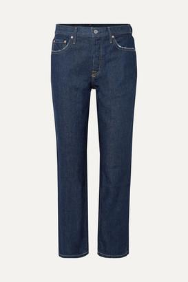 GRLFRND Helena High-rise Straight-leg Jeans - Dark denim
