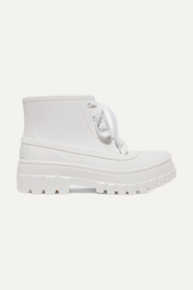 Givenchy Glaston Rubber Ankle Boots - White