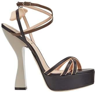 Fendi platform strappy sandals