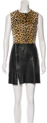 3.1 Phillip Lim Sleeveless Leather Dress