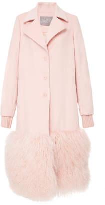 Lela Rose Fur Panel Coat
