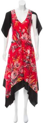 Diane von Furstenberg Sequined Floral Print Dress