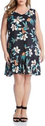 Karen Kane Floral Ruffle Hem Dress