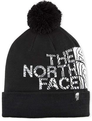 The North Face Men's Logo Ski Toque Beanie Hat with Pompom, Black