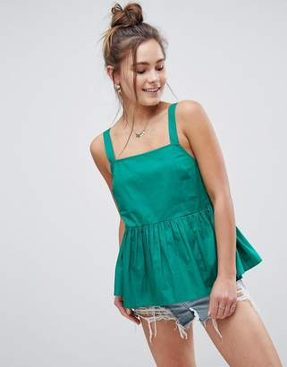 Asos DESIGN Smock Cami in Cotton