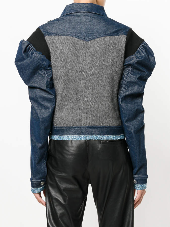 Aviu embellished puff sleeve jacket