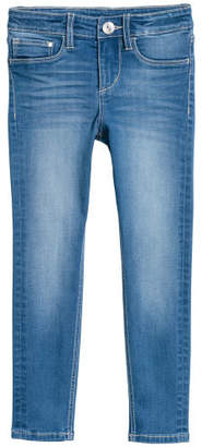 H&M Skinny Fit Satin Jeans - Blue