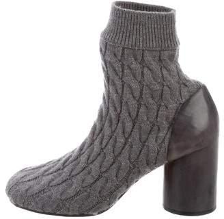 Maison Margiela Knit Round-Toe Ankle Boots