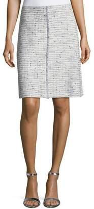 St. John Josephine Tweed Knit Pencil Skirt