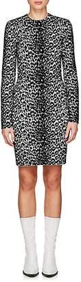 Givenchy Women's Leopard-Pattern Jacquard-Knit Minidress - Black