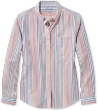 L.L. Bean L.L.Bean Easy-Care Washed Oxford Shirt, Long-Sleeve Stripe