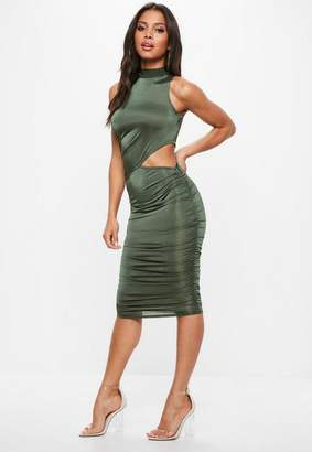 Missguided High Neck Slinky Dress