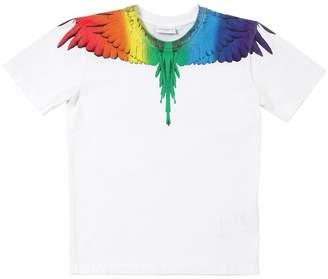 Marcelo Burlon County of Milan Wings Rainbow Printed Cotton Jersey