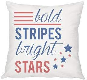 Cathy's Concepts Summer Gifts Stars and Stripes Throw Pillow