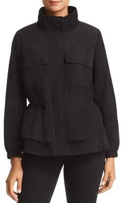 Donna Karan Lightweight Zip-Front Peplum Jacket