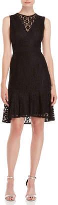 Nanette Lepore Nanette Lace Illusion Keyhole Dress