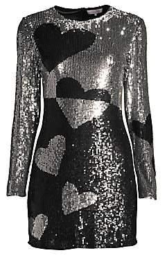 Parker Women's Axel Heart Sequined Sheath Dress